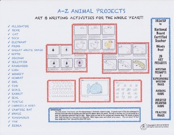 A to Z Directed Drawing and Writing Unit