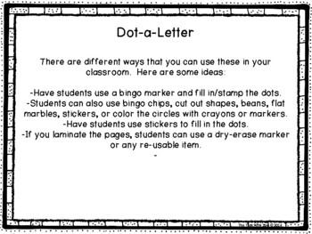 A to Z Dot-a-Letter