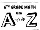 Math A to Z End of the Year Booklet Activity (6th Grade)