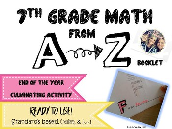 Math A to Z End of the Year Booklet Activity (7th Grade)
