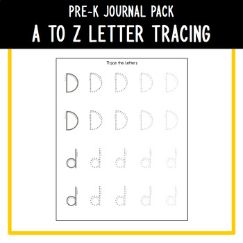 PreK Journal Pack - A to Z Fading Letter Tracing