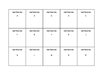 A to Z Flashcard Template