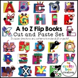 A to Z Interactive Flip Books Cut and Paste Set