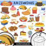 A to Z Fun Foods Clip Art Set, Food Clipart, Junk Food Clip Art