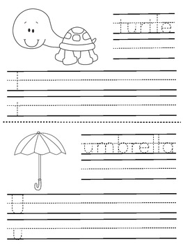 A to Z Handwriting Booklet