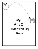 A to Z Handwriting Journal Pages