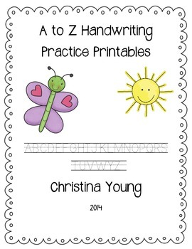 A to Z Handwriting Printables