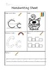 A to Z Handwriting Sheets US spelling