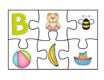 A to Z Initial Sound Puzzle Blast Off