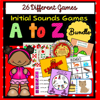 A to Z Initial Sounds - 26 Games / 17 Types of Games BUNDLE