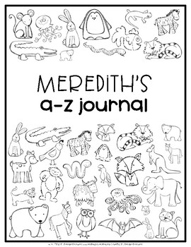 Alphabet Journals EDITABLE {Animal Alphabet}