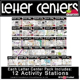 A to Z LETTER CENTER ACTIVITY PACKS (26 Letter Bundle)