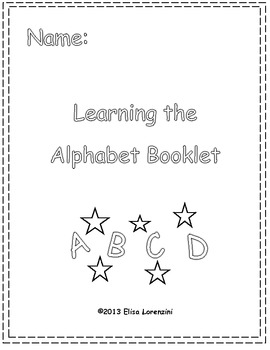 A to Z Learning the Alphabet Booklet