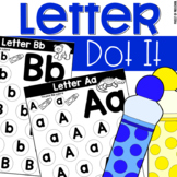 A to Z Letter Dot It - Uppercase and Lowercase Alphabet Match