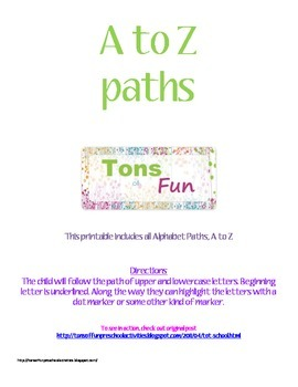 A to Z Letter Path