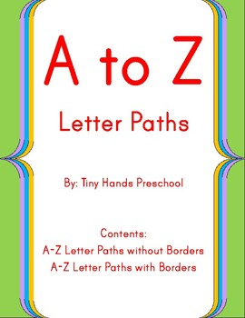 A to Z Letter Paths