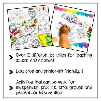 a to z letter recognition activities the bundle by. Black Bedroom Furniture Sets. Home Design Ideas