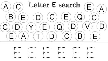 A to Z Letter Search and Letter Tracing