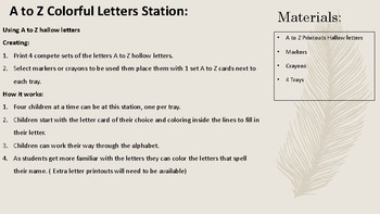A to Z Letter Stations Bundle