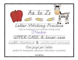 A to Z Letter Writing Practice - D'Nealian Handwriting
