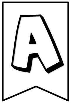 A to Z Letters, 0 to 9 Numbers, Pennant Banner Coloring Sheets, No Prep Art Sub