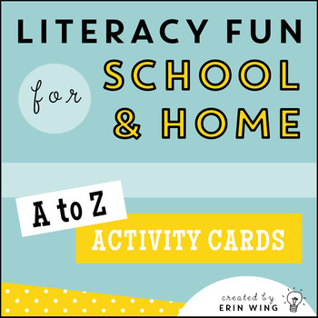 A to Z Literacy Activity Cards