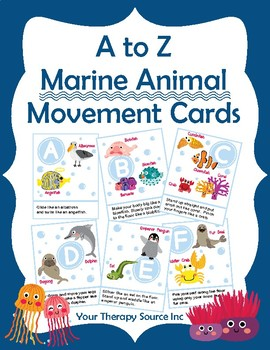A to Z Marine Animal Movement Cards