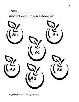 A to Z Match Me! A: Alphabet matching set 1
