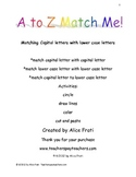 A to Z Match Me! Alphabet Match Up Full Set