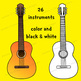 A to Z Musical Instruments Clip Art