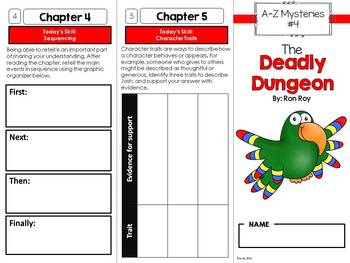 A to Z Mysteries #4 Novel Study Unit - The Deadly Dungeon