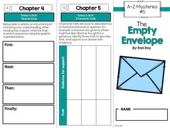 The Empty Envelope Novel Study Unit - A to Z Mysteries #5