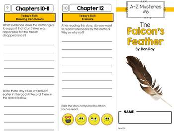 The Falcon's Feather Novel Study Unit - A to Z Mysteries #6