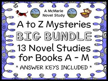 A to Z Mysteries BIG BUNDLE : 13 Novel Studies for Books A - M  (366 pages)