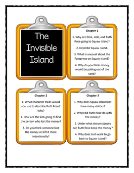 A to Z Mysteries THE INVISIBLE ISLAND - Discussion Cards