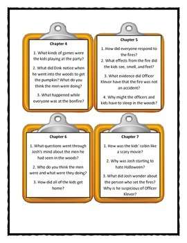 A to Z Mysteries SLEEPY HOLLOW SLEEPOVER Discussion Cards