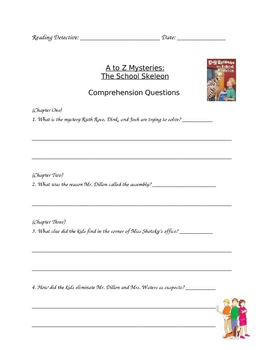 A to Z Mysteries School Skeleton Questions