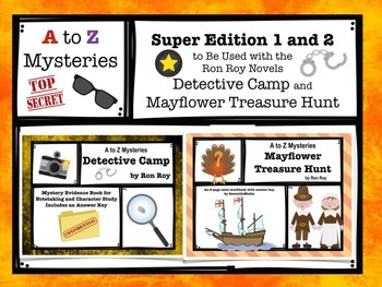 A to Z Mysteries - Super Editions 1-2 Detective Camp and Mayflower Treasure Hunt