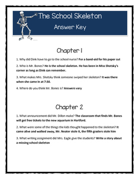 A to Z Mysteries THE SCHOOL SKELETON - Comprehension & Text Evidence