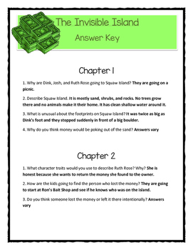 A to Z Mysteries THE INVISIBLE ISLAND Comprehension & Citing Evidence