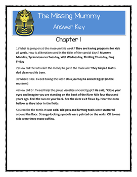 A to Z Mysteries THE MISSING MUMMY - Comprehension & Citing Evidence