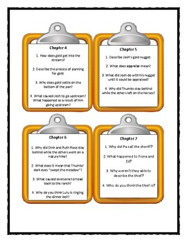 A to Z Mysteries THE NINTH NUGGET - Discussion Cards