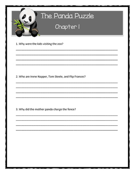 A to Z Mysteries THE PANDA PUZZLE - Comprehension & Citing Evidence