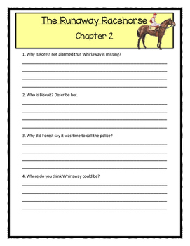 A to Z Mysteries THE RUNAWAY RACEHORSE - Comprehension & Text Evidence