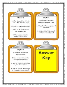 A to Z Mysteries THE SCHOOL SKELETON - Discussion Cards
