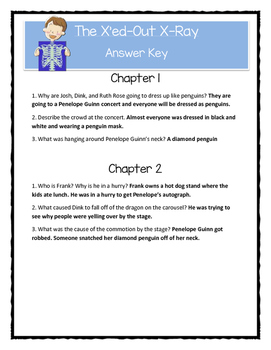A to Z Mysteries THE X'ED-OUT X-RAY - Comprehension & Text Evidence