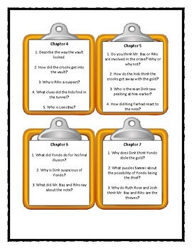 A to Z Mysteries THE YELLOW YACHT - Discussion Cards