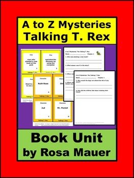 A to Z Mysteries talking T. Rex Book Unit