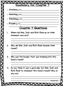A to Z Mysteries- The Canary Caper Reading Packet