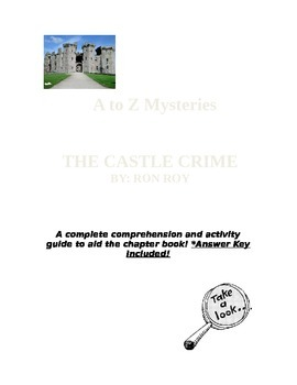 A to Z Mysteries-The Castle Crime COMPLETE Comprehension ...